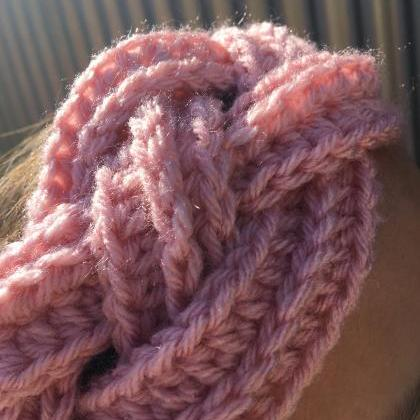 Rose Warm Twisted Cozy Crochet Head..