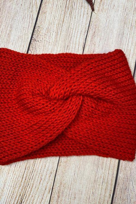 Cozy twisted ear warmer/headband