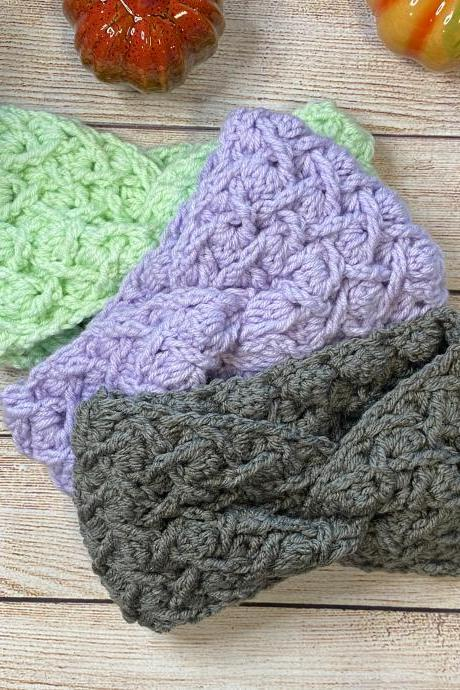 Headband/Ear warmer handmade crochet cozy winter wear