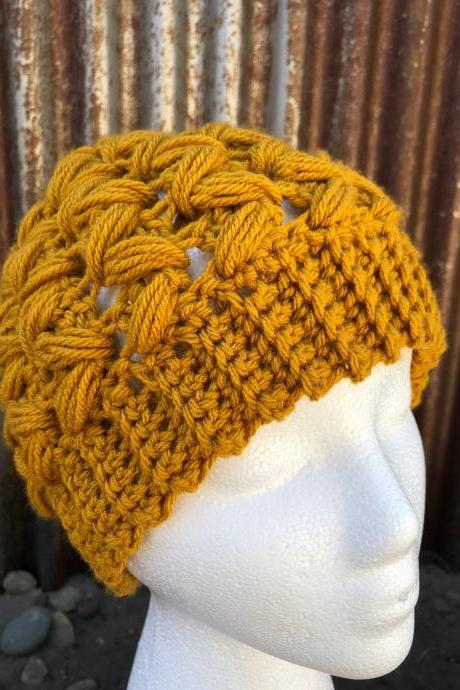 Messy Bun Beanie Crochet hat