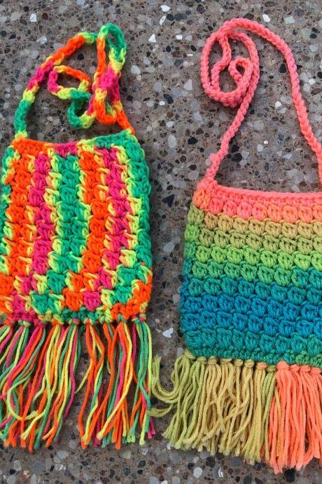 Crochet Cross-body Purses for little girls/coin purses