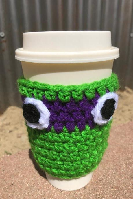 Crochet cup cozy's Ninja turtles inspired