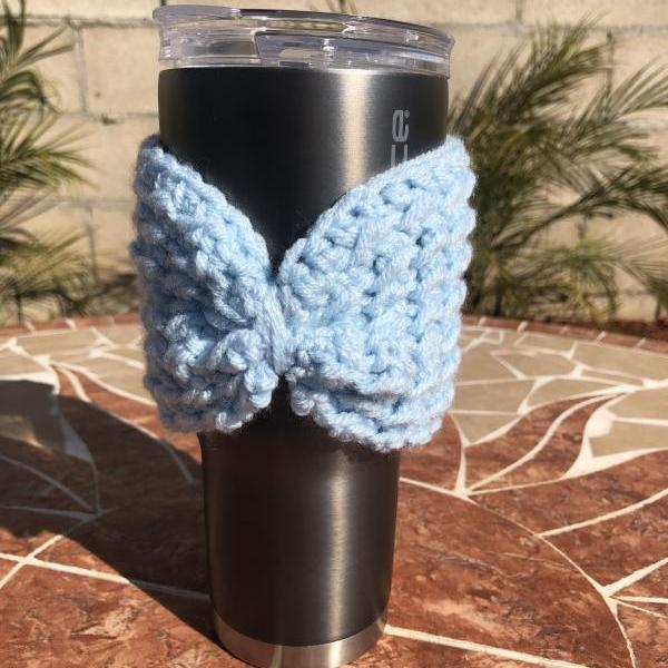 Cup Cozy in crochet handmade cup holder.